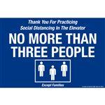 "No More Than 3 People - Floor Decals 8"" x 12"""