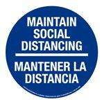 "Anti-Slip Floor Decals-Social Distancing/Bilingual-11"""