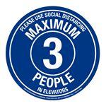 "Anti-Slip Floor Decals-Max 3 People-11""  Diameter"