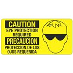 Caution Eye Protection Required - 4 in. x 8 in.