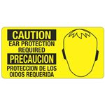 Caution Ear Protection Required - 4 in. x 8 in.