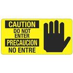 Caution Do Not Enter - Bilingual - 4 x 8
