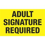 Adult Signature Required - 3x5 in