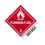 Hazmat Shipping Labels with Descriptions - Compressed Gases, Flammable, NOS - UN1954 - Flam. Gas 4 x 5