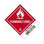 Hazmat Shipping Labels - Printing Ink UN1210 Flam. Liq. 4x5