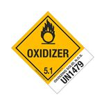Hazmat Shipping Labels with Descriptions - Oxidizing Solid, NOS - UN1479 - Oxidizer 4 x 5