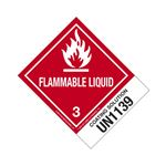 Hazmat Shipping Labels-Coating Soln-UN1139-Flamm.Liq.-4x5
