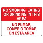 No Smoking, Eating or Dr … Tomar en esta Area Sign