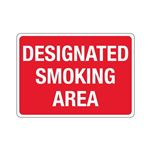 Designated Smoking Area Sign - Red