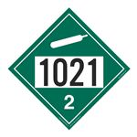 UN#1021 Non-Flammable Gas Stock Numbered Placard