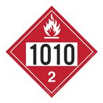 UN#1010 Flammable Gas Stock Numbered Placard