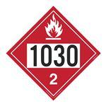 UN#1030 Flammable Gas Stock Numbered Placard