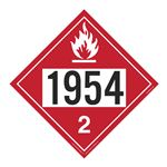 UN#1954 Flammable Gas Stock Numbered Placard