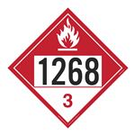 UN#1268 Combustible Liquid Stock Numbered Placard