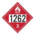 UN#1262 Flammable Stock Numbered Placard