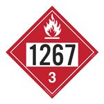UN#1267 Flammable Liquid Stock Numbered Placard