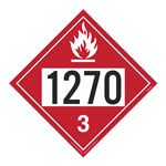 UN#1270 Flammable Liquid Stock Numbered Placard
