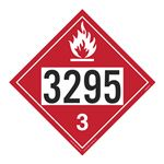 UN#3295 Flammable Stock Numbered Placard