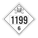 UN#1199 Poison Stock Numbered Placard