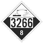 UN#3266 Corrosive Stock Numbered Placard