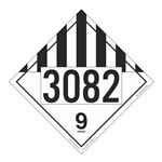 UN#3082 Misc Dangerous Goods Numbered Placard