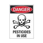 Danger Pesticides In Use Graphic Sign