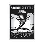ALUM REFL 10x14 STORM SHELTER AREA SIGN