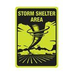 LUMN. ALUM 10x14 STORM SHELTER AREA SIGN