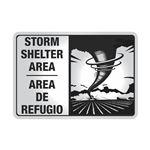 ALUM REFL 7x10 BILINGUAL STORM SHELTER AREA SIGN