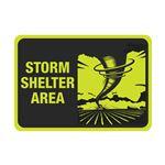 Luminescent Aluminum Storm Shelter Area Sign 7x10