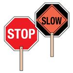 Two-Sided Paddle Signs - Stop/Slow