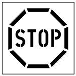 Stop Parking Stencil - 42 in. x 48 in.
