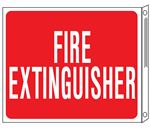 Two-Sided Flanged Signs - Fire Extinguisher 10x12