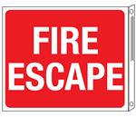 Two-Sided Flanged Signs - Fire Escape 10x12
