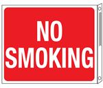 Two-Sided Flanged Signs - No Smoking 10x12