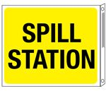 Two-Sided Flanged Signs - Spill Station 10x12