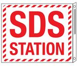 SDS Wall Signs - SDS Station Flange Sign 10x12