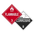 Two-Sided Placards - Flammable/Corrosive 10 3/4 x 10 3/4