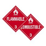 Two-Sided Placards - Flammable/Combustible 10 3/4 x 10 3/4