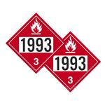 Two-Sided Placards - Flammable Liquid N.O.S./Flammable Liquid N.O.S. 10 3/4 x 10 3/4