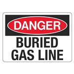 Danger Buried Gas Line - 10 x 14