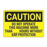 Do Not Operate This Machine Without Ear Protection Decal