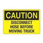 Disconnect Hose Before Moving Truck Decal