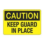 Keep Guard in Place Decal