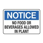 No Food or Beverages Allowed in Plant Decal