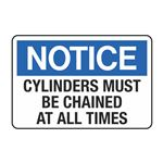 Cylinders Must be Chained at All Times Decal