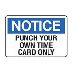 Punch Your Own Time Card Only Decal