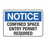 Confined Space - Entry Permit Required Decal