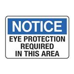 Eye Protection Required in This Area Decal