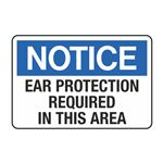 Ear Protection Required in This Area Decal